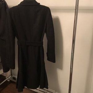 Calvin Klein black wool coat
